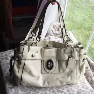 Coach Peyton carry all leather satchel #19757M